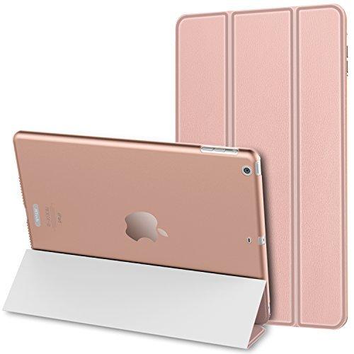 JETech iPad Mini Hülle Schutzhülle Etui Tasche Abdeckung Ledertasche mit Durchschaubar Rückseite für Apple iPad Mini 1/2/3 mit Automatischen Schlaf / Wake (Roségold) - 0479D