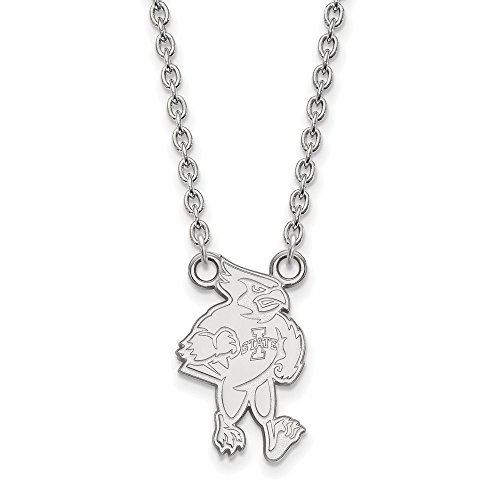 925 Sterling Silver Officially Licensed Iowa State University College Large Pendant with Necklace (18 in x 1.95 mm) by Unknown