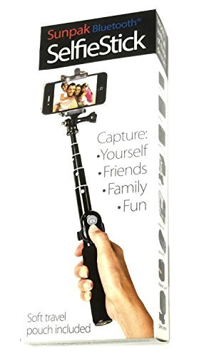 Sunpak 35-Inch Selfie Stick with Bluetooth  Remote (Pack of 2)