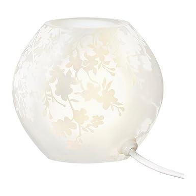 Amazon.com: IKEA KNUBBIG – Lámpara de mesa color blanco ...