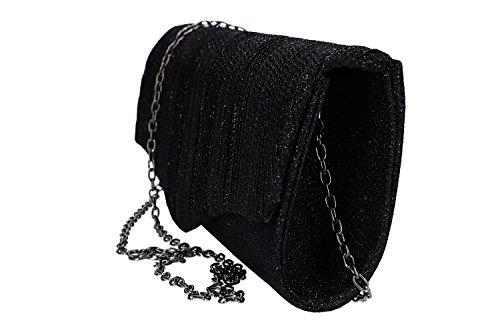 Botón Embrague Michelle Vn1995 Negro Bolsa Mujer Apertura De De Luna Elegante Ceremonia 5EqPPnSz