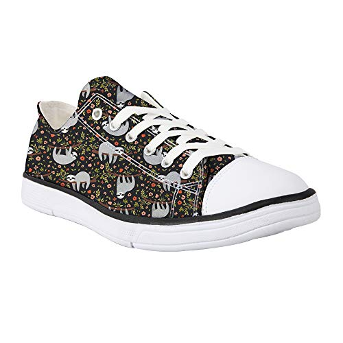 Showudesigns Animal Ladies Canvas Shoes Womens Casual Lace Up Plimsoles Low Top Trainers Sneakers Fashion Pumps White…