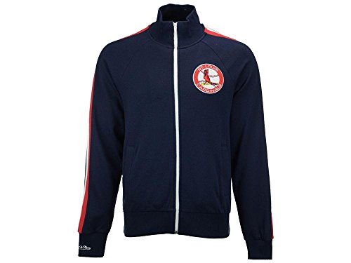 MLB Mitchell & Ness Men's Division Champions French Terry Full Zip Jacket (5XL, St. Louis Cardinals)