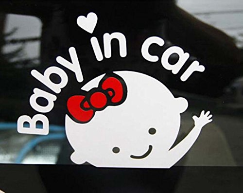 fan products of 1 Pc Classical Popular Baby In Car Sticker Window Decor Cute on Board Truck Vinyl Girl Style Color White