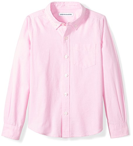 Amazon Essentials Little Boys' Long-Sleeve Uniform Oxford Shirt, Pink, XS (4-5)