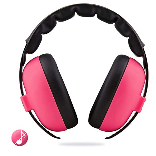 Baby Earmuffs, Noise Cancelling Headphones, Newborn, Infant or Toddler Hearing Protection, Soft, Comfortable and Efficient Ear Protectors (Pink) from BUNDLEPRO