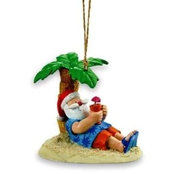 Amazon.com: Santa Relaxing Under a Palm Tree Beach Break Christmas ...