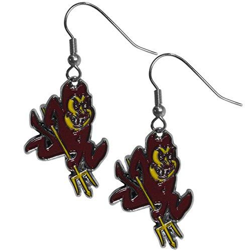 Siskiyou NCAA Arizona State Sun Devils Chrome Dangle Earrings