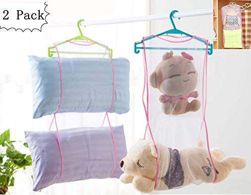 - Cute Sleeping Pillow Pet Basking Holder Hanging Heavy Duty Space Saver Mesh Bags Shoe Dryer Basket Closet Storage Accessory Organizers Two Layer,2 Pack