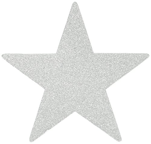 Star Cutouts   Silver   Pack of 5   Party Decor