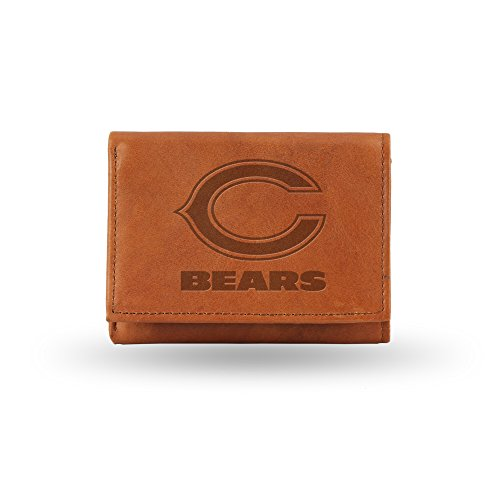 NFL Chicago Bears Embossed Genuine Cowhide Leather Trifold Leather Wallet