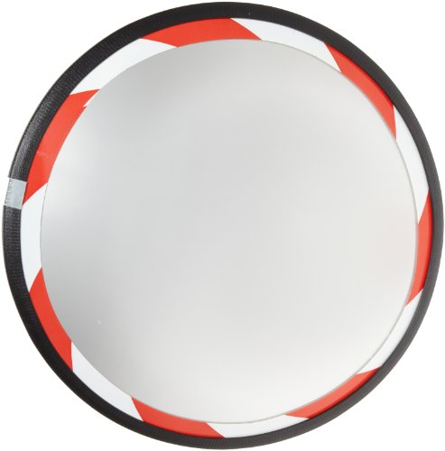 See All PLXO18RT Convex Mirror, Acrylic Plastic Face, High Visibility Edge, Outdoor Use, 18