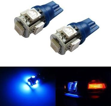 10 x Blue 5SMD LED License Plate Light Bulbs 168 194 2825 T10 W5W TOOL