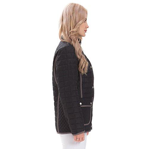 Plus Taille Manteaux La Collier Casual Minces Puffer Noir MatelassS Down De Femme 36 54 Femmes'Turn Printemps Vestes MSVASSA fq6Hw7Cn
