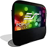 Elite Screens POP-UP Cinema Portable Outdoor Fast Folding Projector Screen with Stand 84 inch 16:9 Ultra Light Weight Movie Theater Cinema Quick Collapsible Projection Screen w/Carrying Bag POP84H