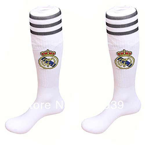 Real Madrid Youth/kids Soccer Socks (White) by MD Sports