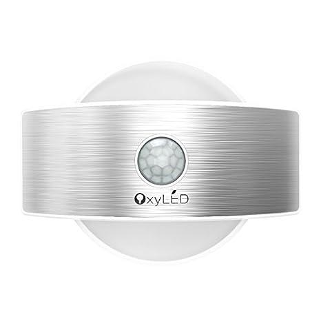 Lámpara Nocturna, OxyLED T-03S - Luz nocturna automática y constante, lámpara con