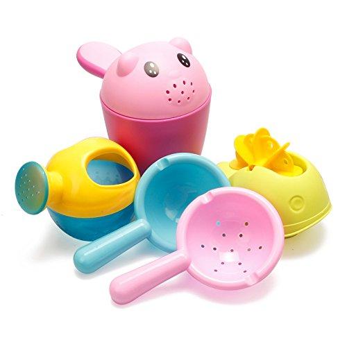 VGHJK Beach Toys Children Bath Toys Water Cart Boy Girl Wash Cup Sprinkler Baby Watering Set(random Color),A by VGHJK