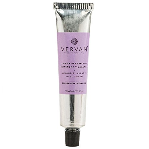 Vervan, Intensive Reparing Treatment Hand Cream with Almond Oil & Lavender, 1.4 Oz. Restores Dry Hands, For all Types of Skin, Essential Oils, Paraben Free, Easy Absorption, Handmade