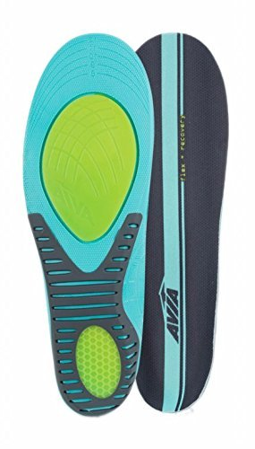 Avia Flex Recovery Anti Fatigue All Day Comfort Men's Insole, Size 8 - 12 - Ergonomic Memory Foam Countouring for Superior Arch (Memory Foam Massaging Slippers)