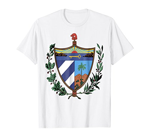 Mens Cuba coat of arms T-shirt Tee Tees T Shirt Tshirt Medium White