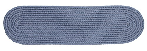 Solid Wool Stair Tread, Sailor Blue