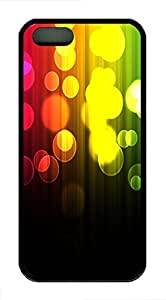 iPhone 5 5S Case Abstract Light Spots 2 TPU Custom iPhone 5 5S Case Cover Black