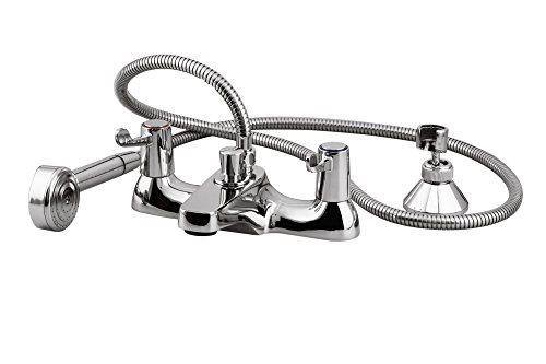 Eisl NI023LHS Deck Bath Mixer with Lever Handles and Shower Kit (Bath Mixer Deck)
