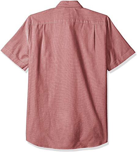 Lacoste Mens Short Sleeve Oxford Button Down Collar Regular Fit Woven Button Down Shirt