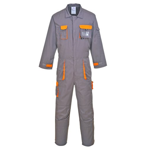 Portwest Unisex Mens/Womens Texo Contrast Protective Coverall / Workwear (XL) (Charcoal)