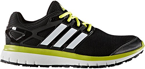 adidas Performance Men's Energy Cloud M Running Shoe, Black/White/Unity Lime Fabric, 10.5 M US