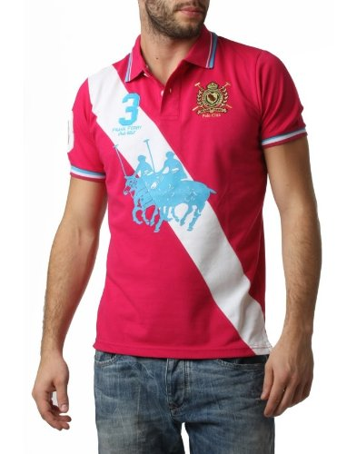 Polo FRANK FERRY Homme ff55 rose - -: Amazon.es: Ropa y accesorios