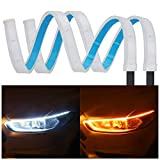 Best Daytime Running Led Strips - 2Pcs 24 Inches Dual Color White/Sequence Amber LED Review