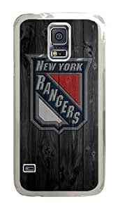 Samsung Galaxy S5 Case, Wood NY Rangers Clear Plastic Hard Snap on Protective Case Back Cover for Samsung Galaxy S5 I9600