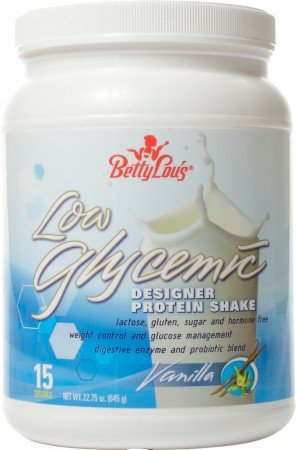 Faible indice glycémique Designer Protein Shake Vanille Betty Lou - 22,75 oz