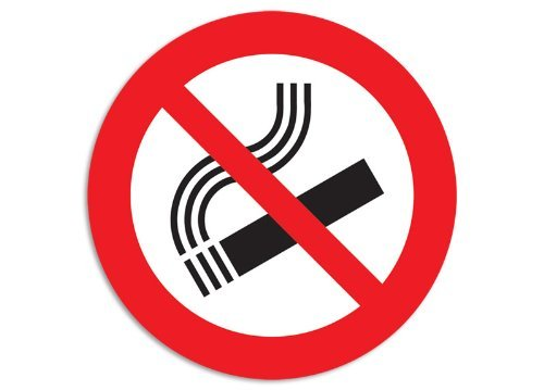 ROUND No Smoking Logo Sticker (business safety decal)