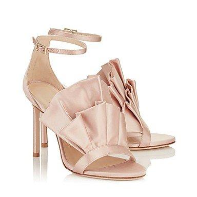 LvYuan Mujer-Tacón Stiletto-Otro-Sandalias-Boda Vestido Fiesta y Noche-Satén-Rosa Pink