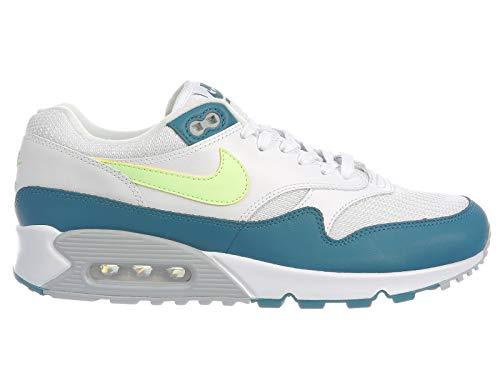 Nike Air Max 90/1 White/Lime Blast-Wolf Grey (9.5 D(M) US) (Nike Air Max 90 Ultra Essential Mens)