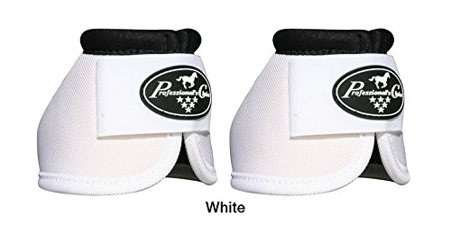 Professionals Choice Equine Ballistic Hoof Overreach Bell Boot, Pair (Large, White)