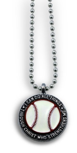 "Baseball Necklace ""I Can Do All Things Through Christ"""
