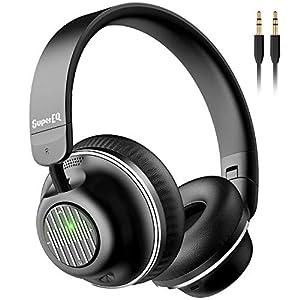 Best Epic Trends 41CltqhCJZL._SS300_ Active Noise Cancelling Headphones-SuperEQ S2 Bluetooth On Ear Headphones with CVC 8.0 Mic, Deep Bass, 25H Playtime…