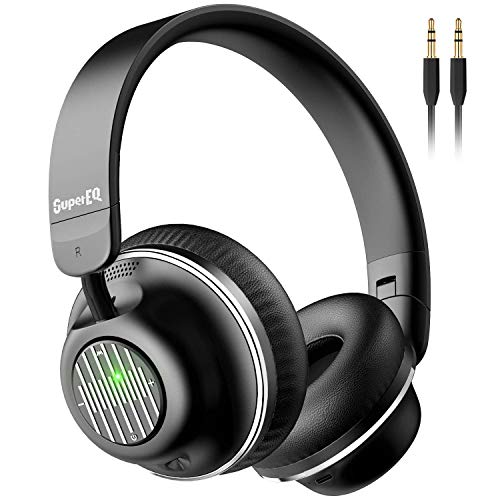OneOdio SuperEQ S2 Bluetooth Active Noise Cancelling Headphones, Wired and Wireless On-Ear Headphones with CVC 8.0, Hi…