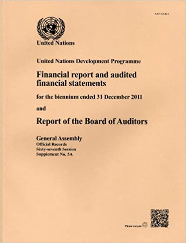 Financial Report and Audited Financial Statements for the Biennium Ended 31 December 2011 and Report of the Board of Auditors: United Nations Development Program (Official records)