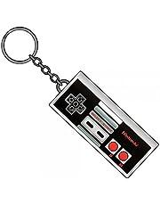 Nintendo NES Controller Keychain Metal Keyring