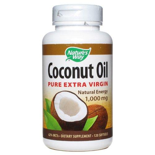 Nature s Way Coconut Oil - 1000 mg - 120 Softgels - Gluten Free - Yeast Free - (Coconut Oil Softgels Natures Way)