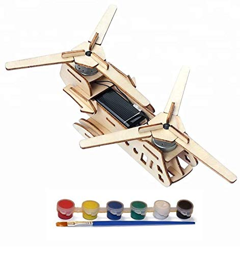Original Hobby Wood Craft 3D Puzzle (Solar Powered Helicarrier) from Original Hobby