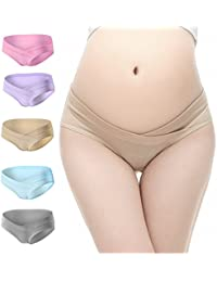 PIDAY Women's Under the Bump Cotton Maternity Hipsters...
