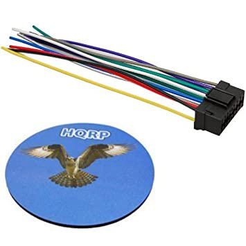 amazon com hqrp 16 pin jvc car stereo radio head unit wire wiring rh amazon com Lx111 Wiring Unit Head JVC Diagramkd Simple of a JVC Car Radio Wiring