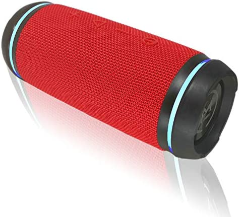Morpheus 360 Sound Ring Bluetooth Portable Speakers, 12W Loud Wireless Speakers, 360 HD Sound, Waterproof IPX6, Dual Pairing, Shockproof, Rugged, Outdoors, BT5750RED