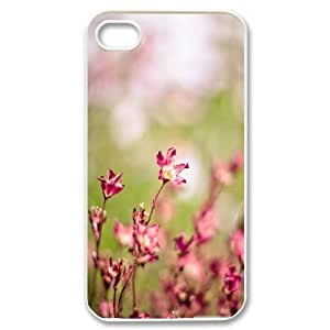 Ancos Bokeh IPhone 4/4s Cases Pink Flowers Bokeh, Girly Protective Bokeh, {White}